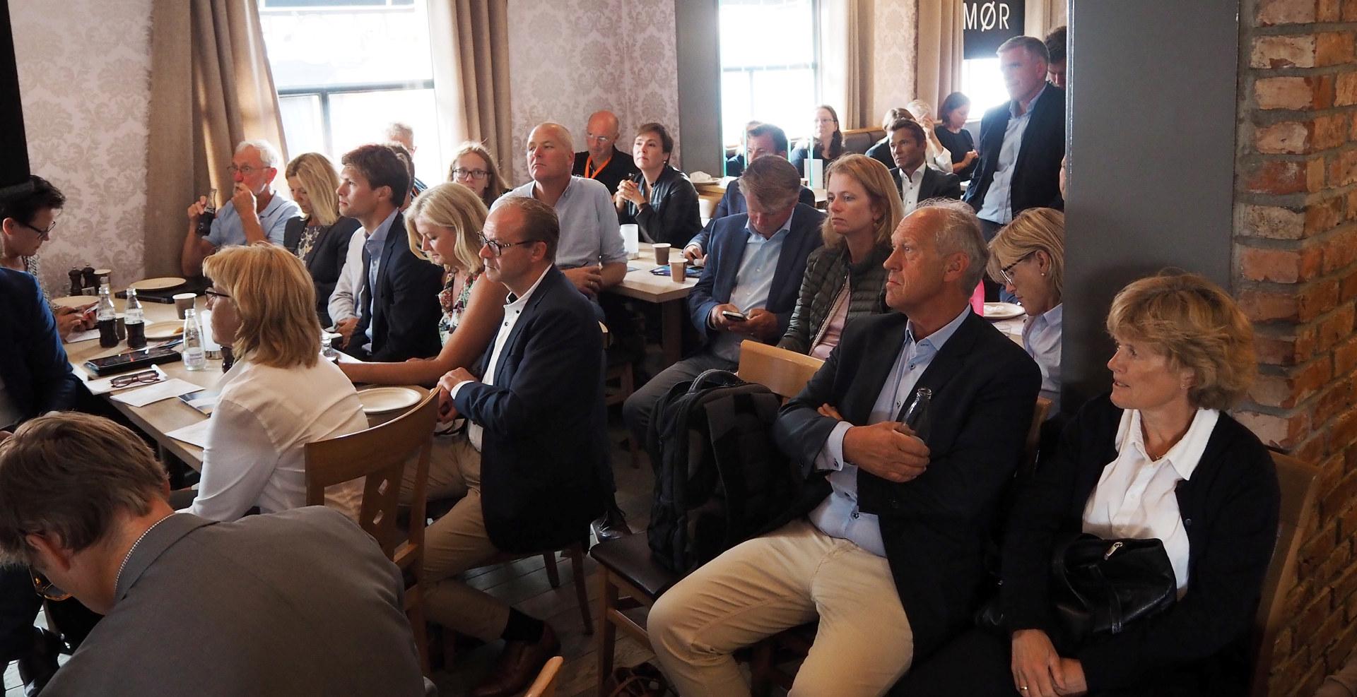 Arendalsuka 2018, fullt hus på møte om industripolitikk