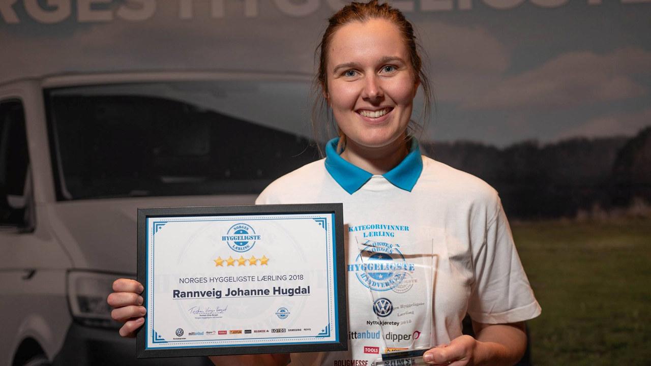 Rannveig Johanne Hugdal er kåret til Norges hyggeligste lærling