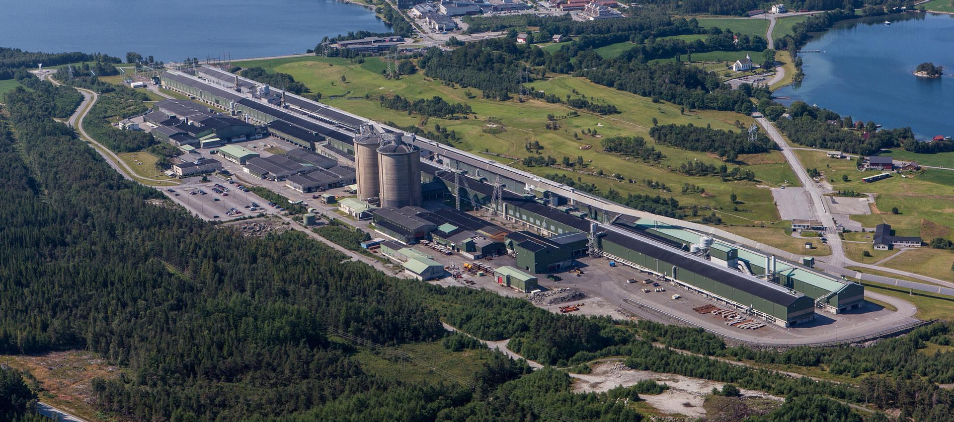 Hydro på Husnes. Foto: Norsk Hydro