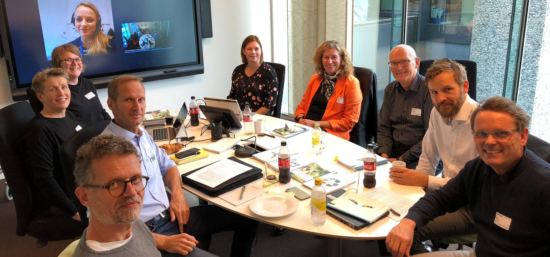 Arbeidsgruppa som skal jobbe med Veikart for kompetanse. Gruppa består av representanter fra Aibel AS, Borregaard, Brunvoll, Norsk Hydro, Intek, Kleven, Kongsberg Defence & Aerospace og Norsk Industri.