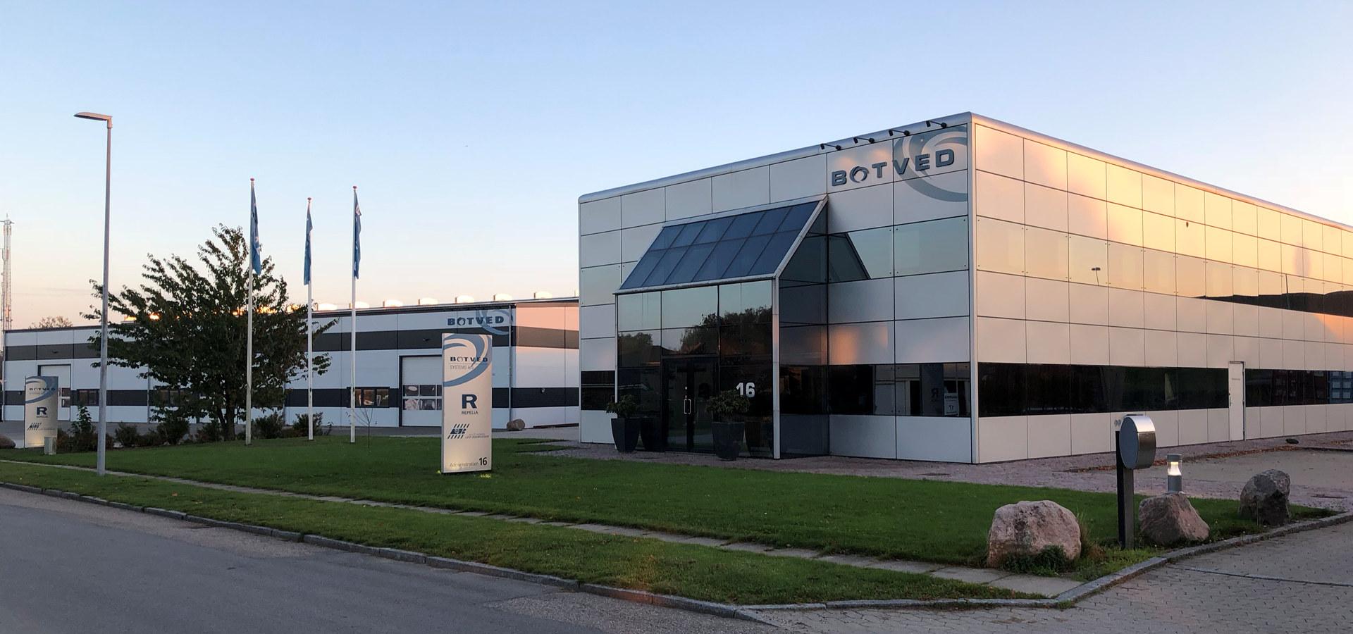 Bygget til Botved Systems A/S, leverandør til NRV