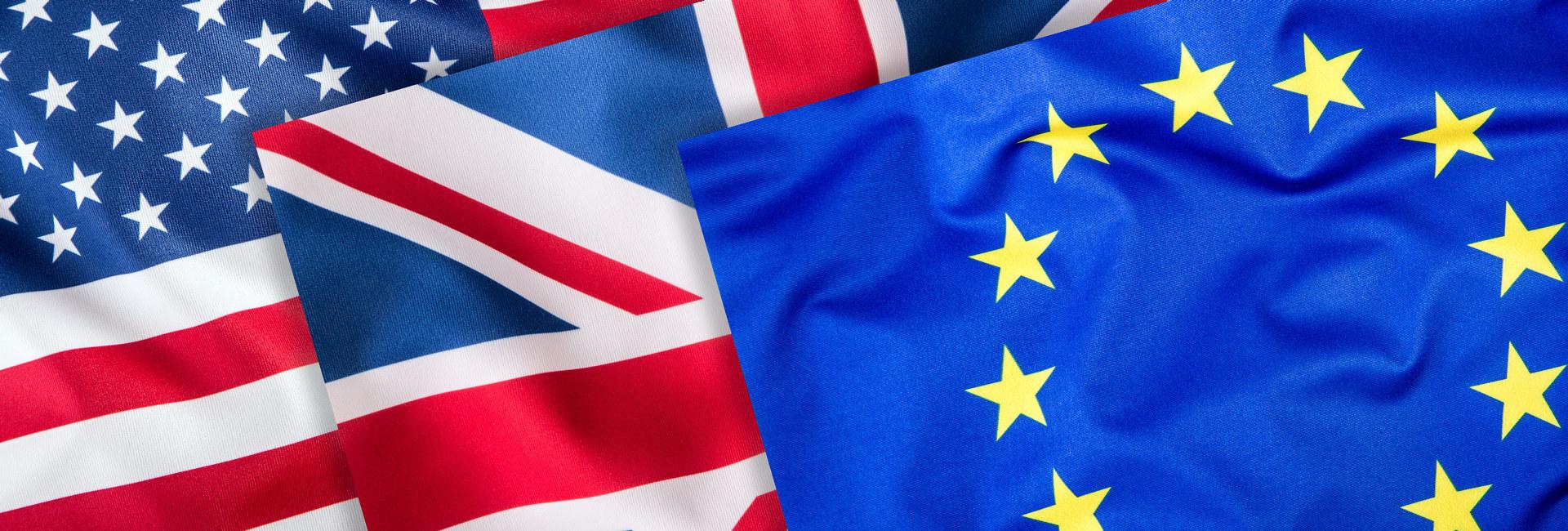 USA, Storbritannia, EU