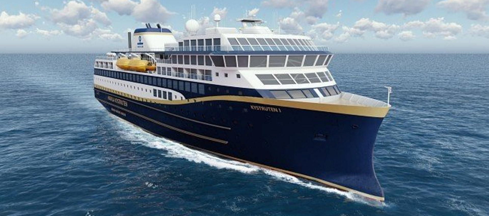 Illustrasjon av Havilas nye skip.
