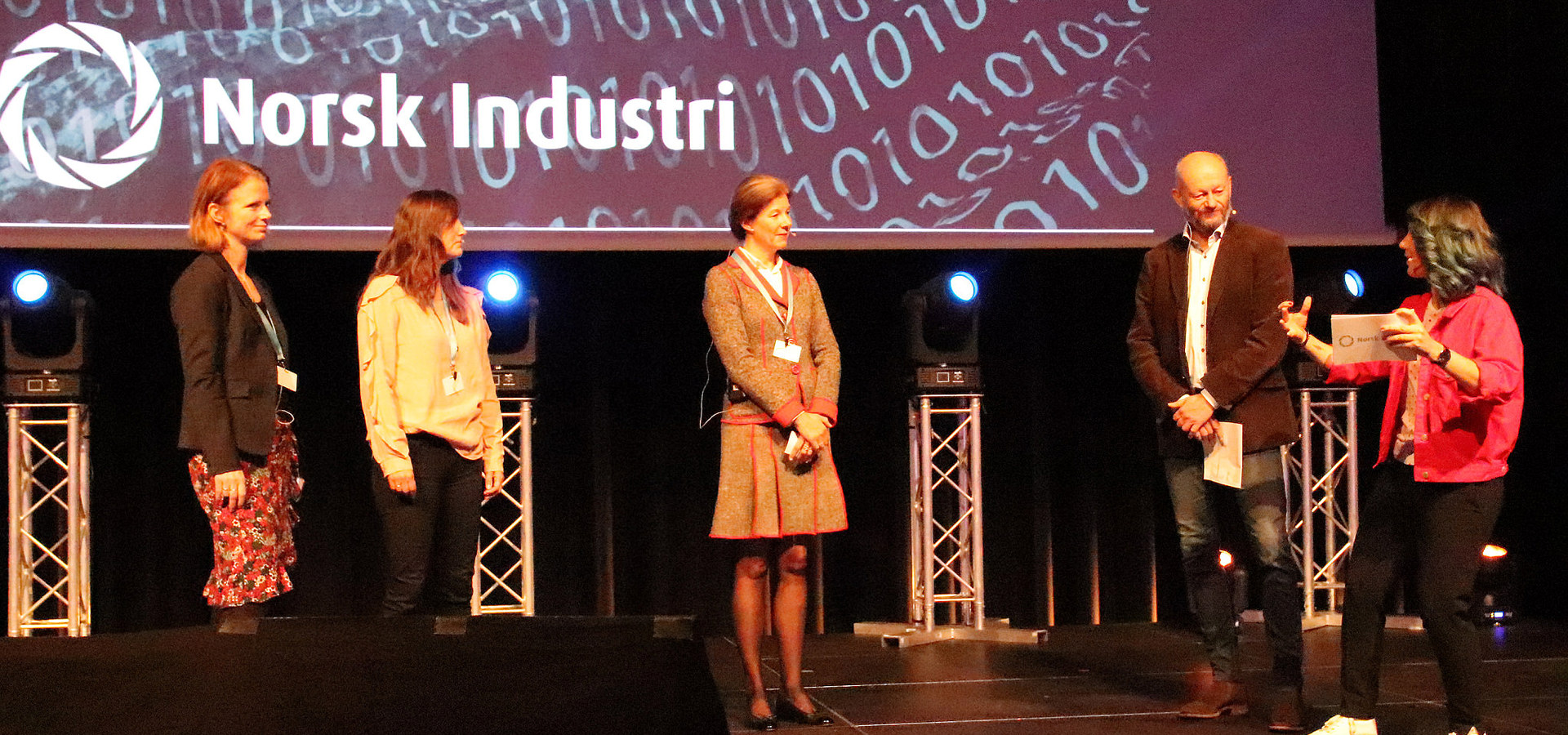 Åpning av Industri Futurum 2018, med katapultene, Siva, Stein og Selda.