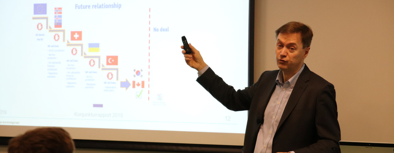 Knut Sunde presenterer konjunkturrapporten