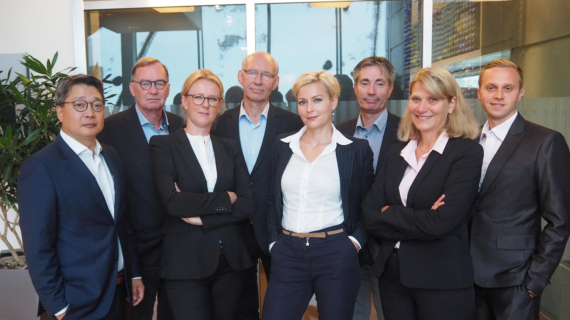 Juridisk avdeling 2018. Fv.: Terje Hovet, Tore M. Sellæg, Birgitte Stenberg Kravik, Preben Westh Christensen, Vibeke Lærum, Hans-Martin Møllhausen, Sunniva Berntsen, André Berka