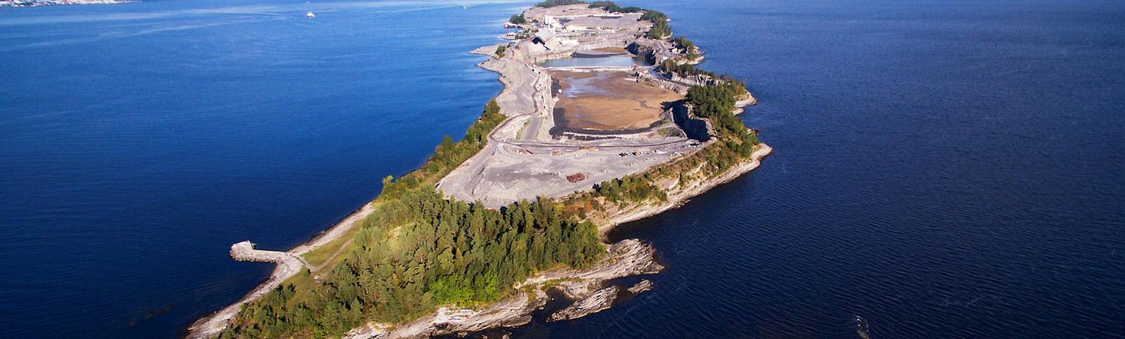 Langøya utenfor Holmestrand. Foto: NOAH