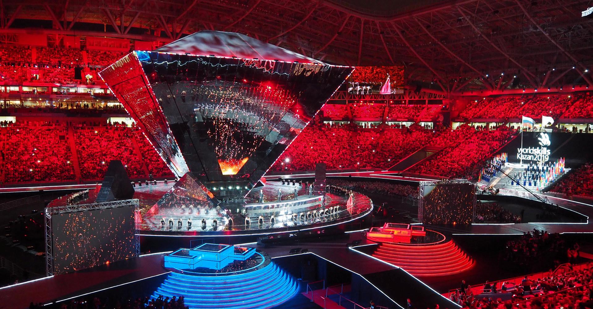 Avslutningsseremoni Yrkes-VM, Kazan, Russland, 27. august 2019. Foto: WorldSkills Norway