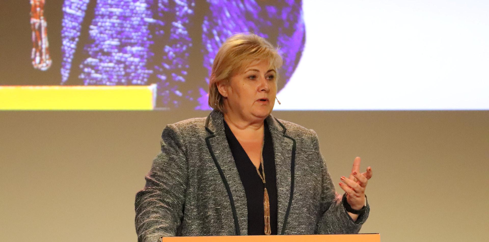 Erna Solberg på Industrikonferansen 2019.
