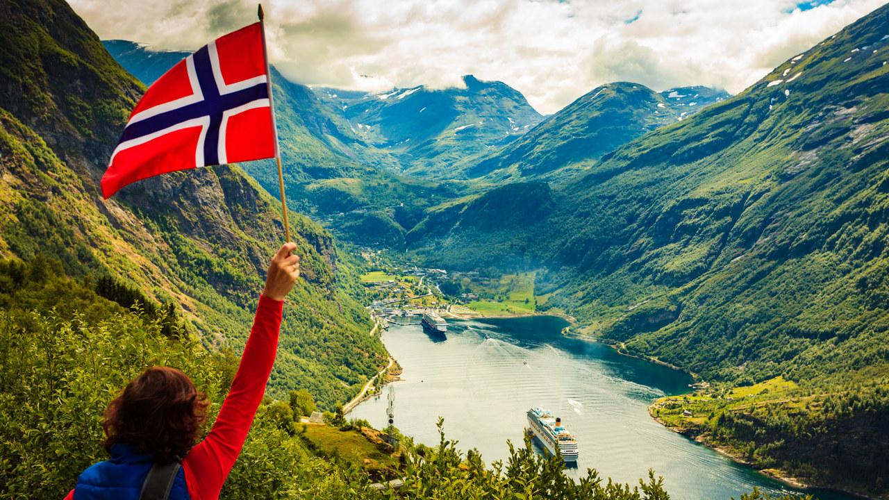 Norge, fjord og fjell