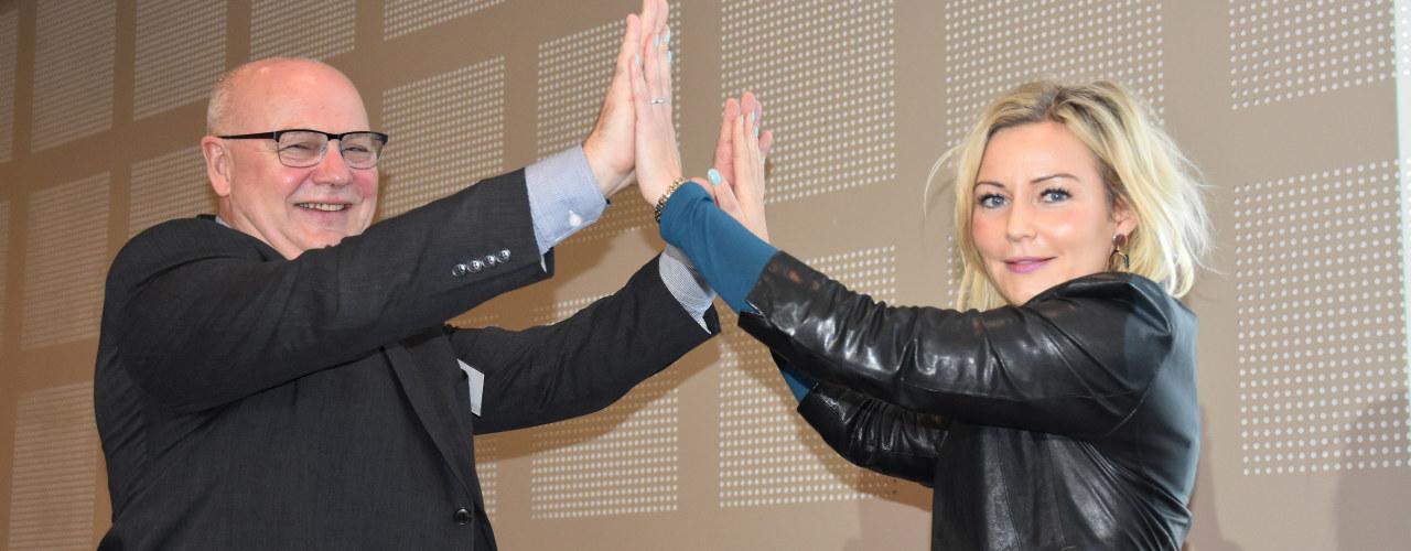 Områdeleder Asle Reime i Industri Energi og advokat Vibeke Lærum i Norsk Industri