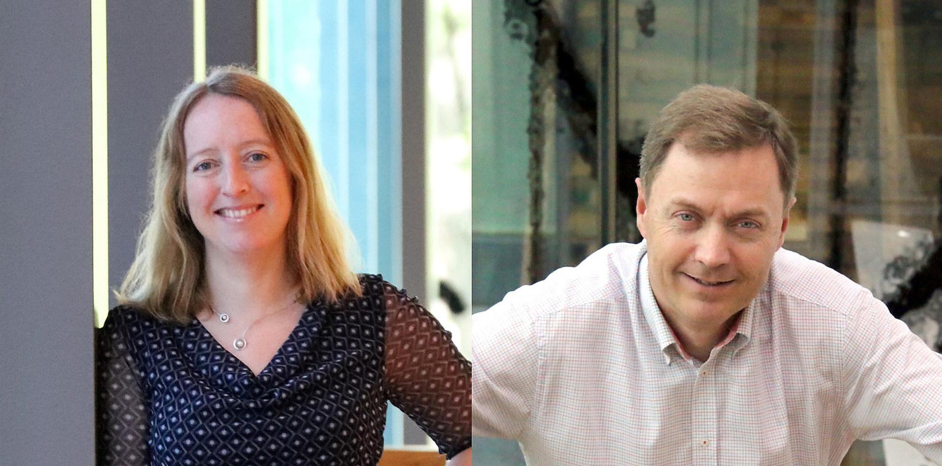 Fagsjef for forskning og innovasjon Katrine Vinnes og direktør Knut E. Sunde i Norsk Industri. Foto: Norsk Industri