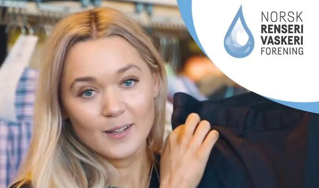 NRV har engasjert influencer Ingrid Bergtun til å fortelle om fordelne med bruk av renseritjenester.