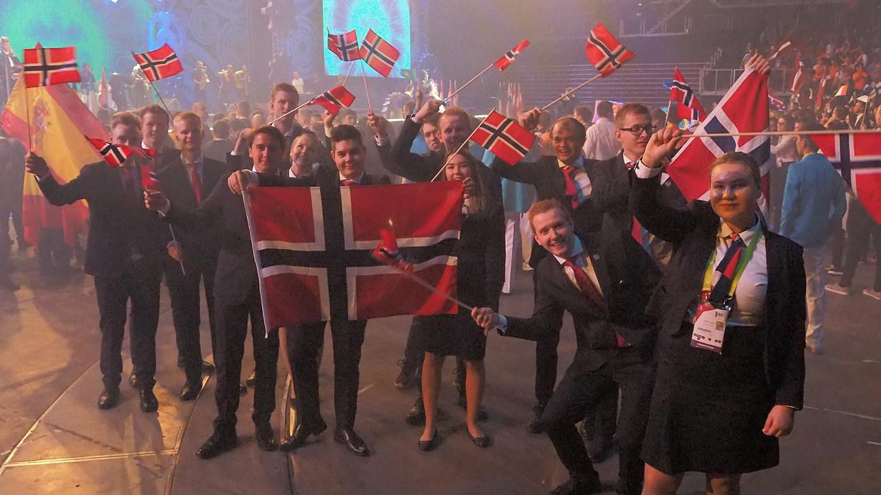 Her ser vi utøvere på det norske yrkeslandslaget som konkurrerte i Yrkes-EM i Budapest i 2018.