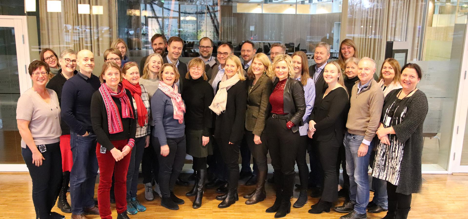 Administrasjonen i Norsk Industri desember 2019. Foto: Norsk Industri
