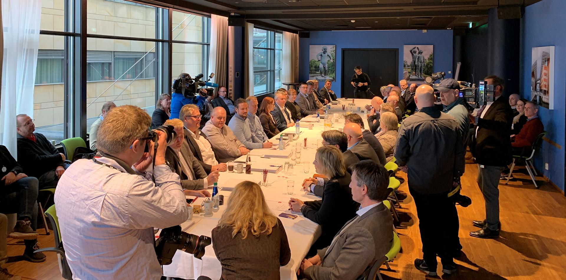 Pressekonferanse lønnsoppgjør frontfag 2020