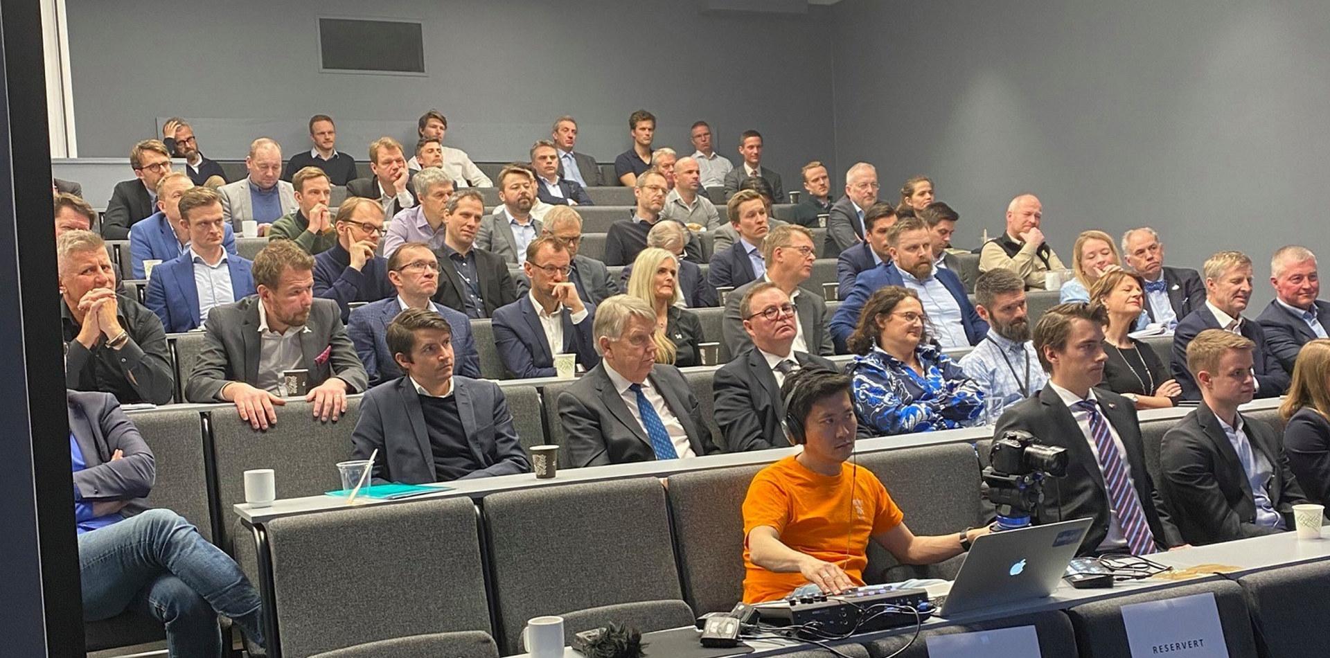 """Bilde fra seminaret """"Flytende havvind for å dekarbonisere norsk sokkel: Hva skal til?"""""""
