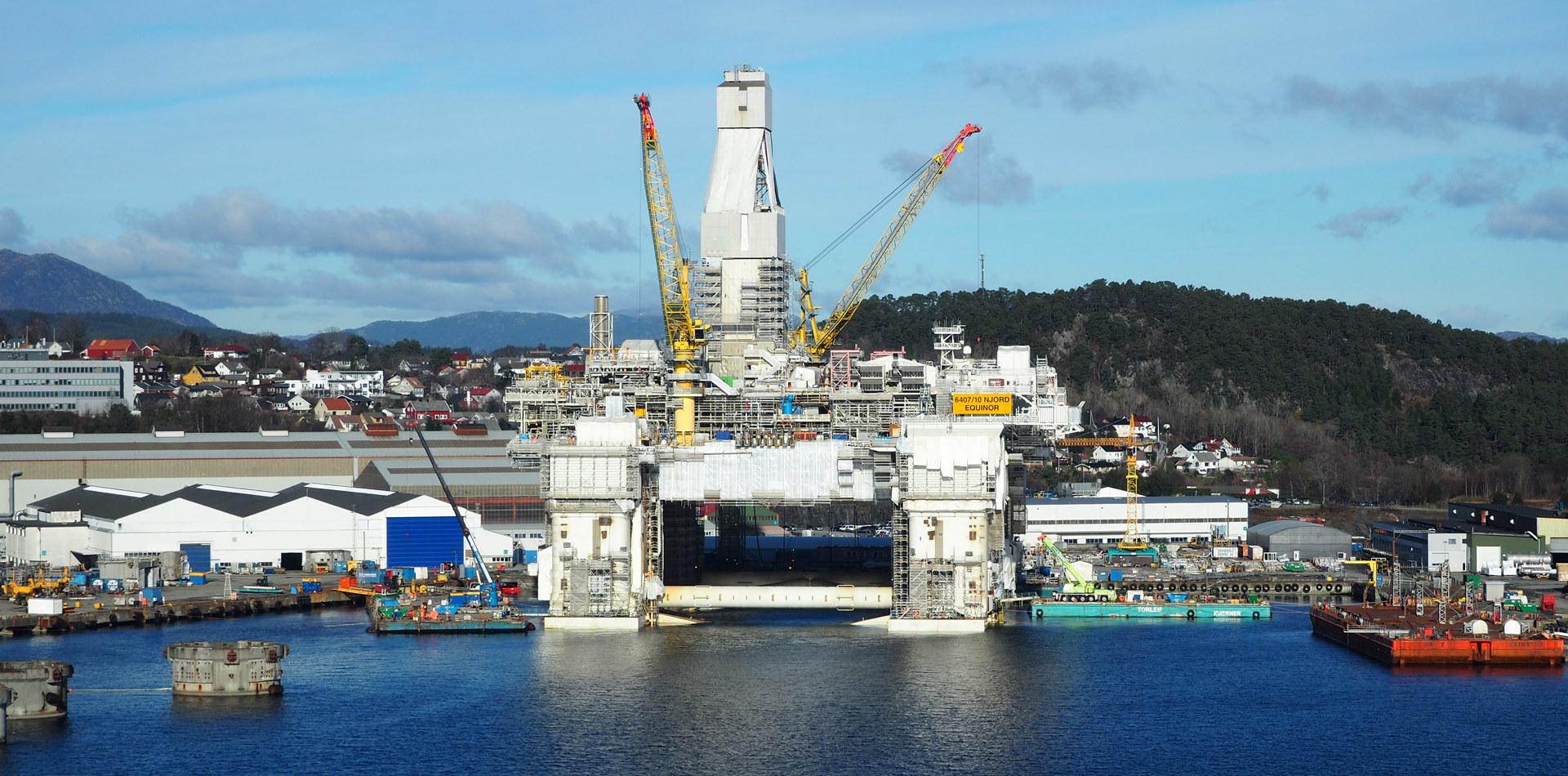 Njord oppgraderes hos Kværner Stord. Foto: Cathrine W. Eidal / Norsk Industri