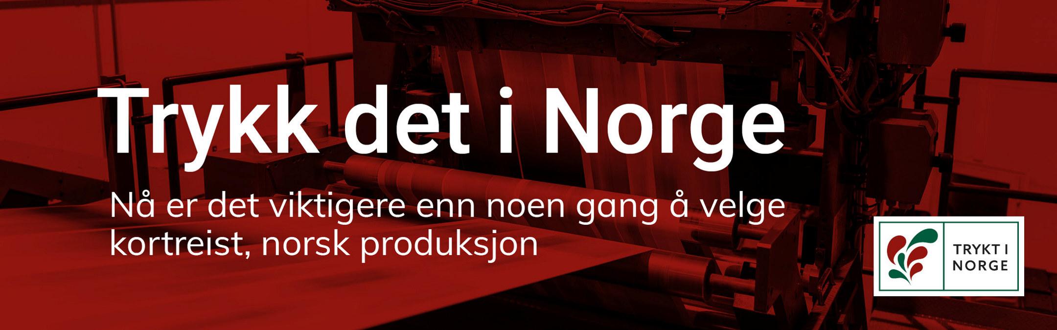 Banner med teksten Trykt i Norge