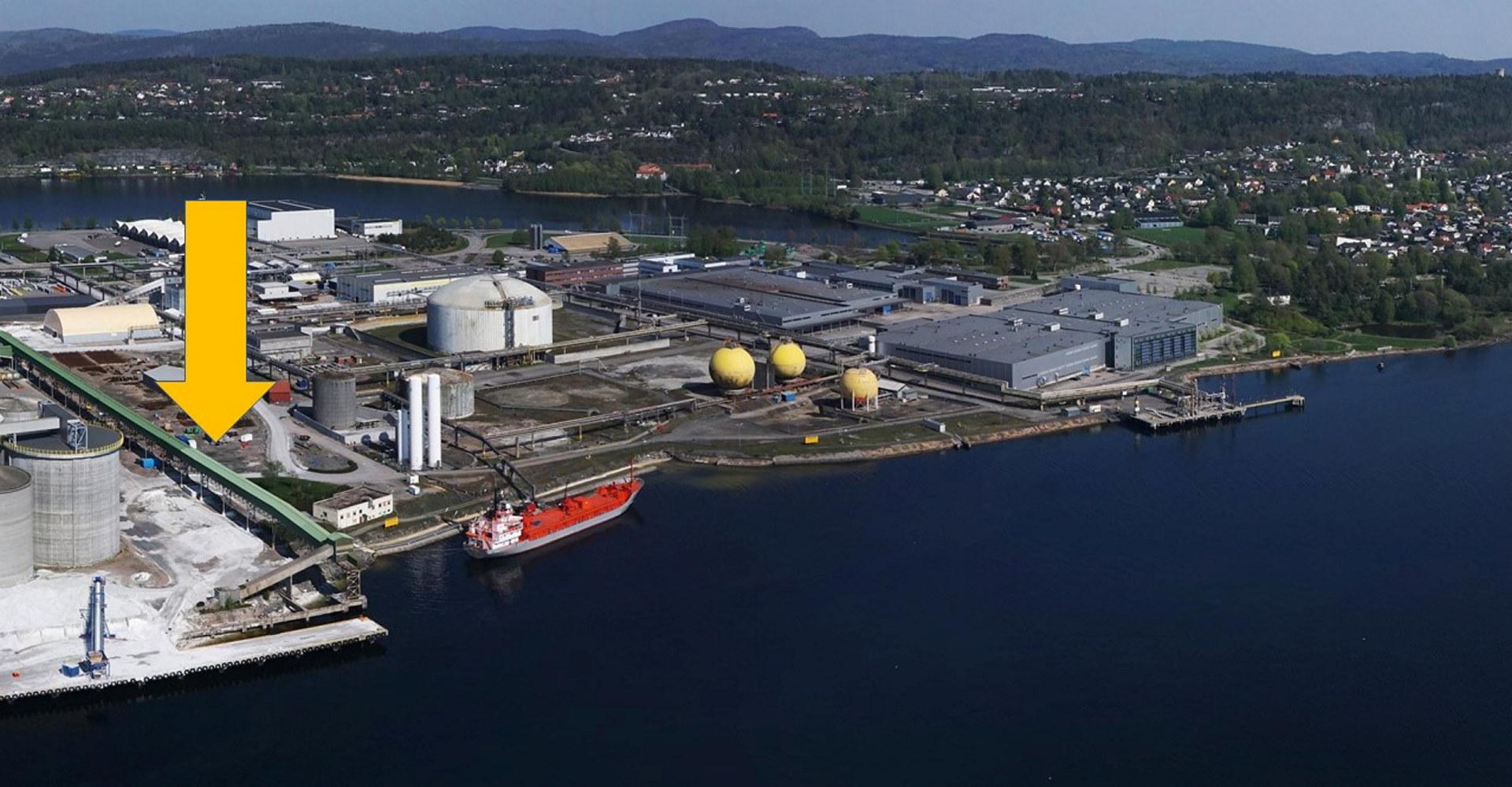 Oversiktsbilde Herøya Industripark