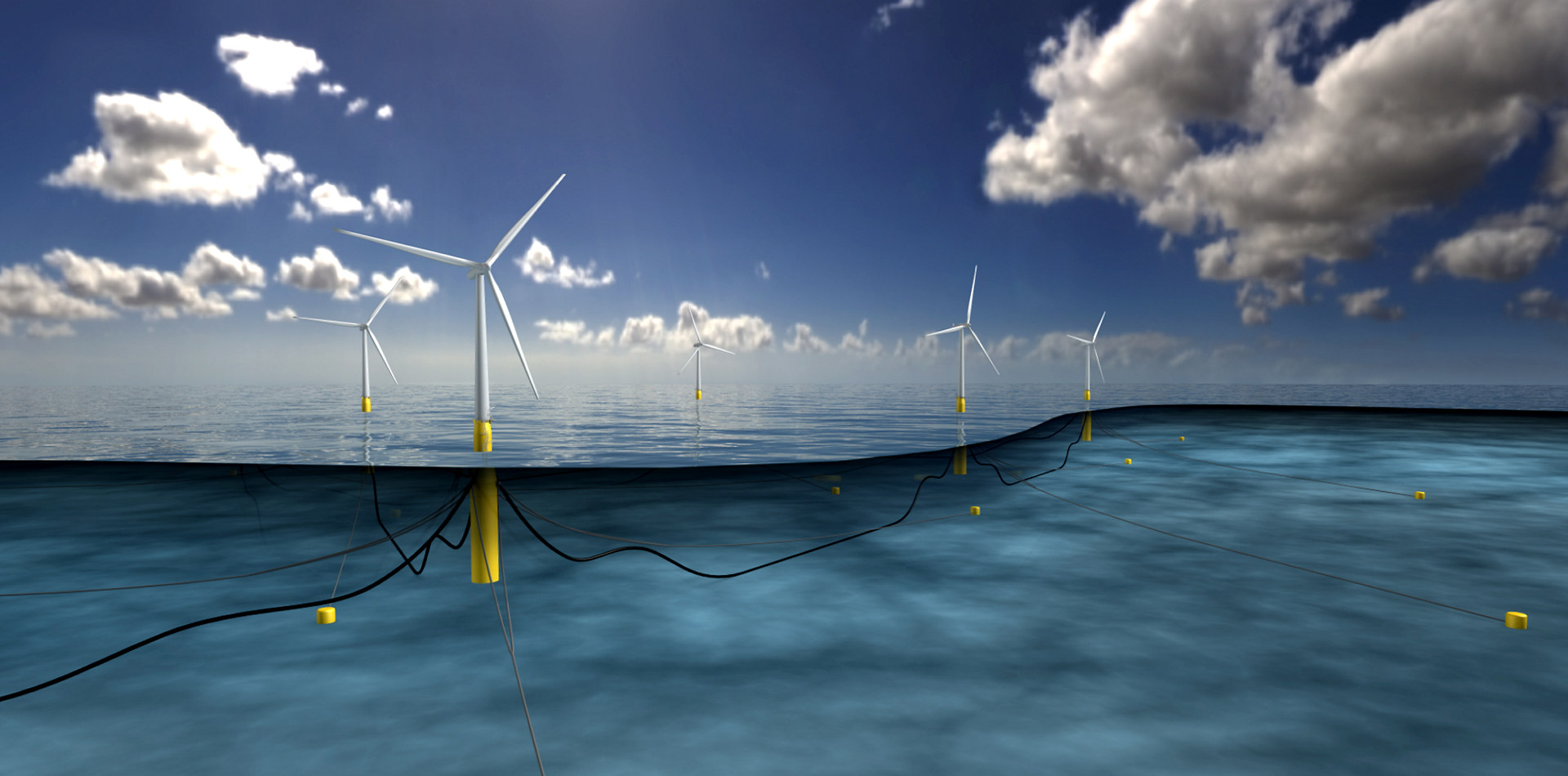 Hywind wind farm illustration
