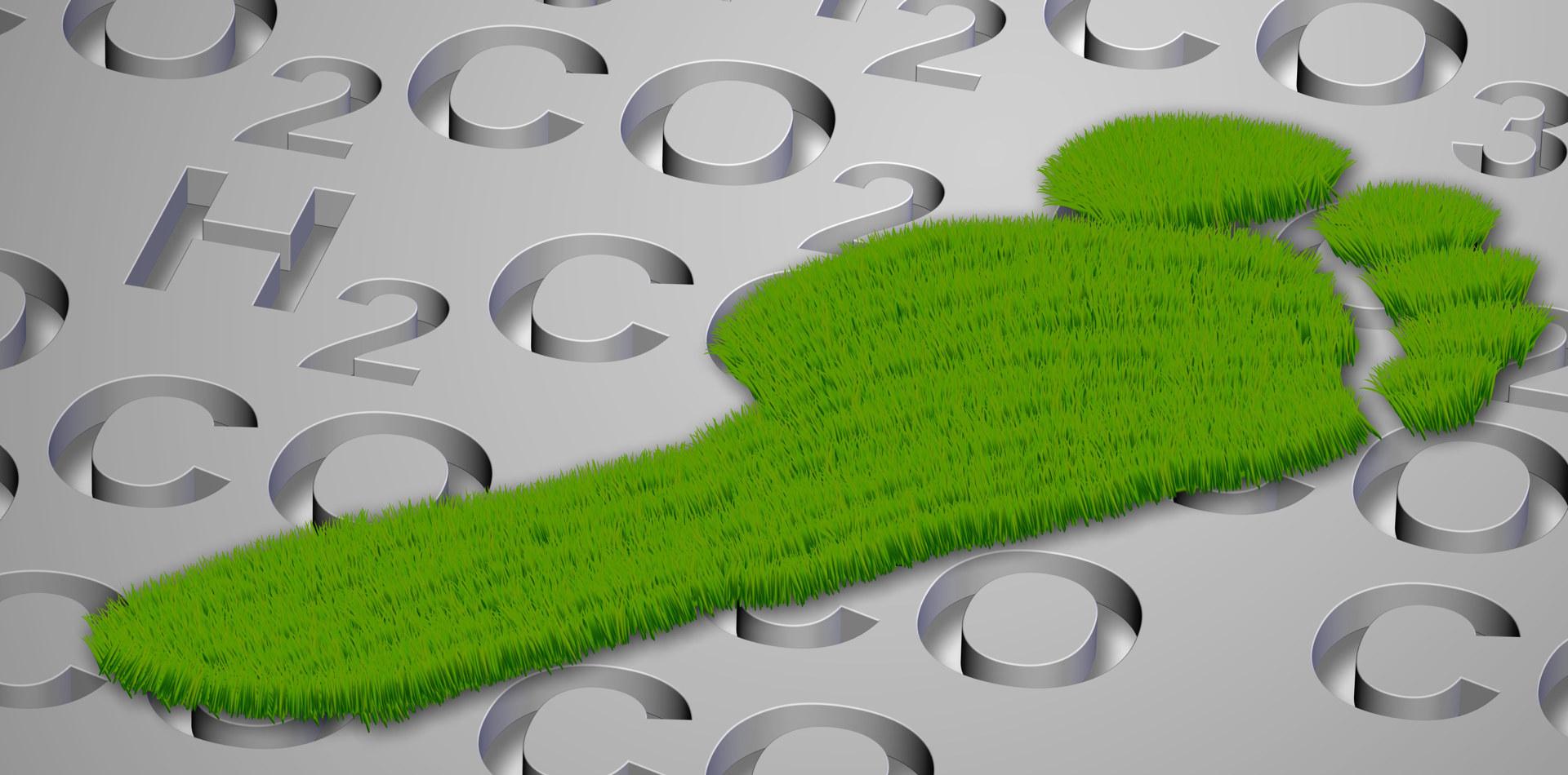 Illustrasjon karbonfotavtrykk