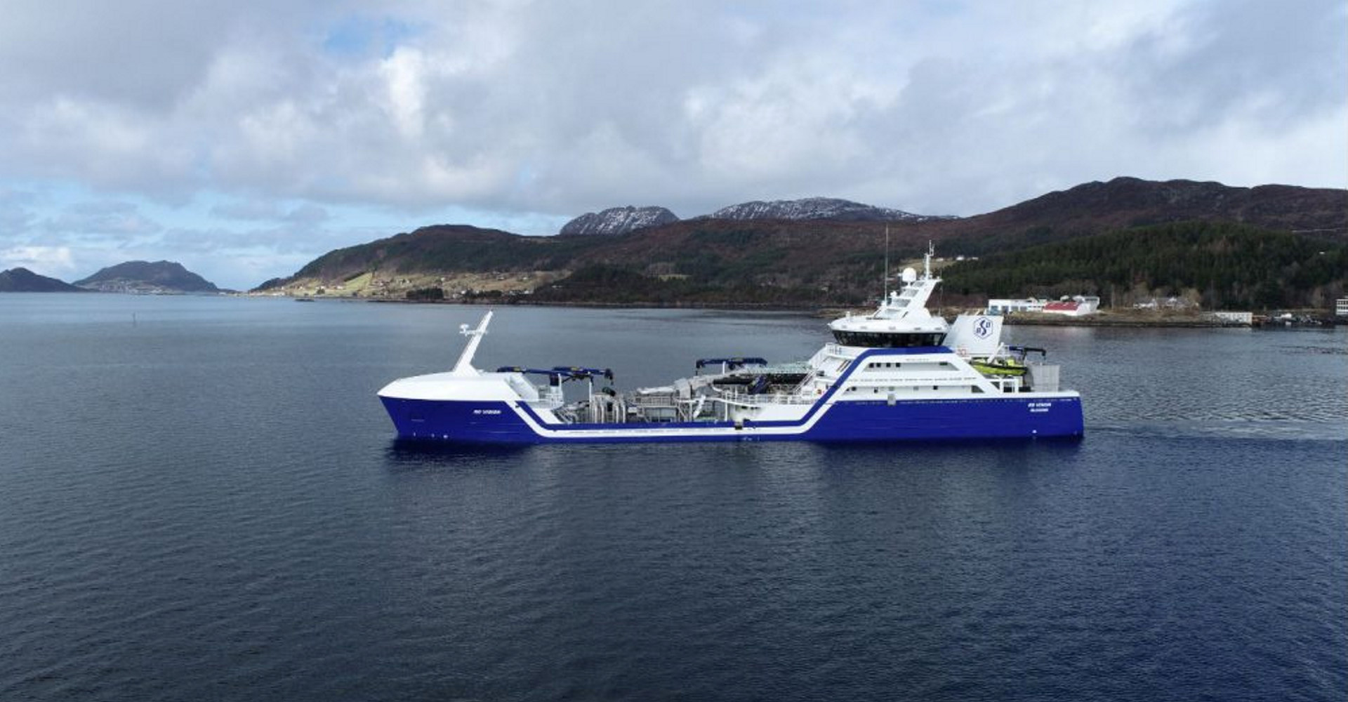 Verdens første hybride brønnbåt, Ro Vision. Foto: Larsnes Mek. Verksted