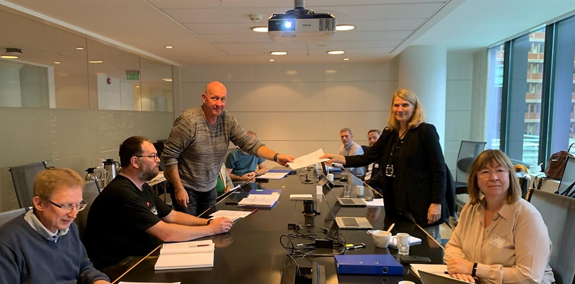 Forhandling på Miljøoverenskomstene 2020. Foto: Norsk Industri