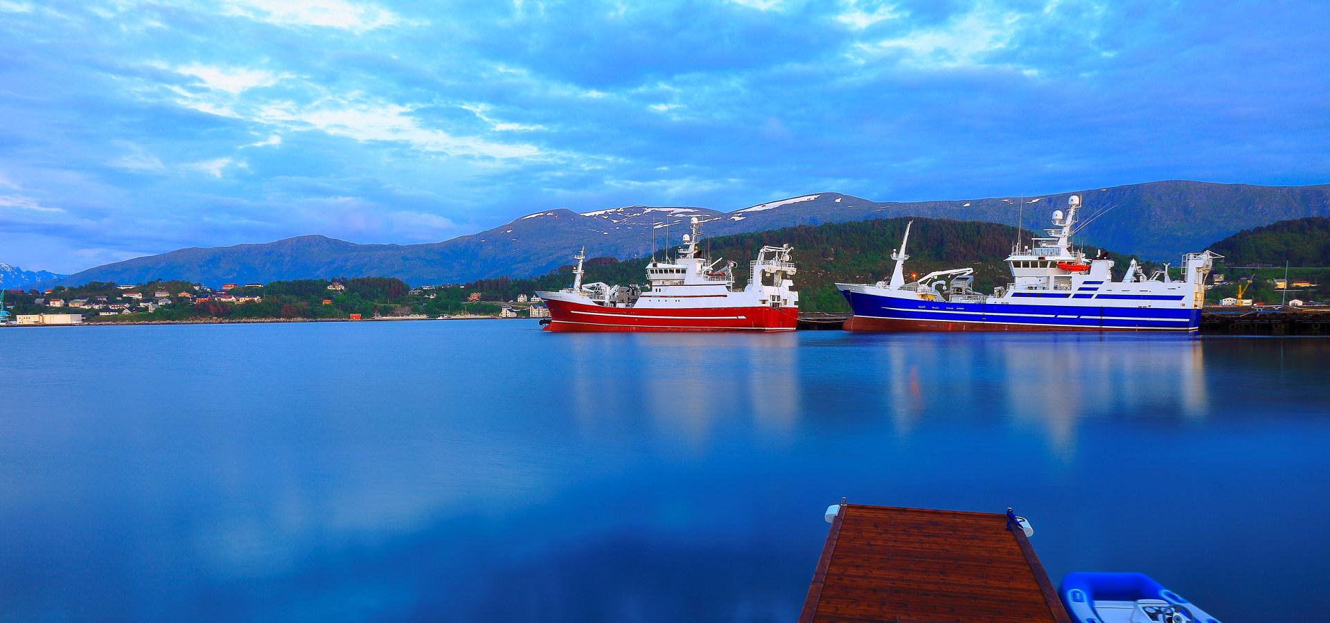 Skip i norsk natur