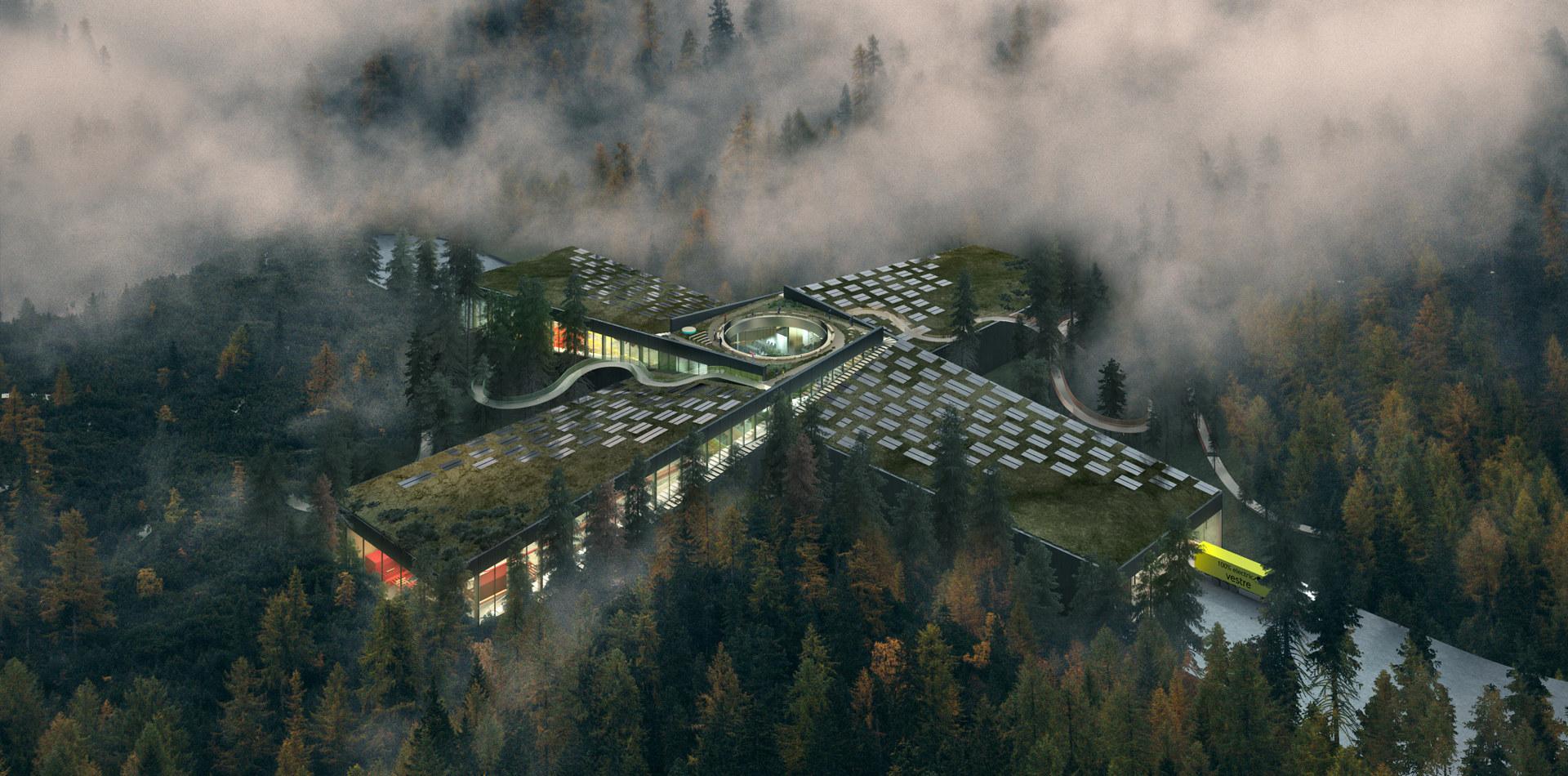 Illustrasjon av planlagt fabrikk