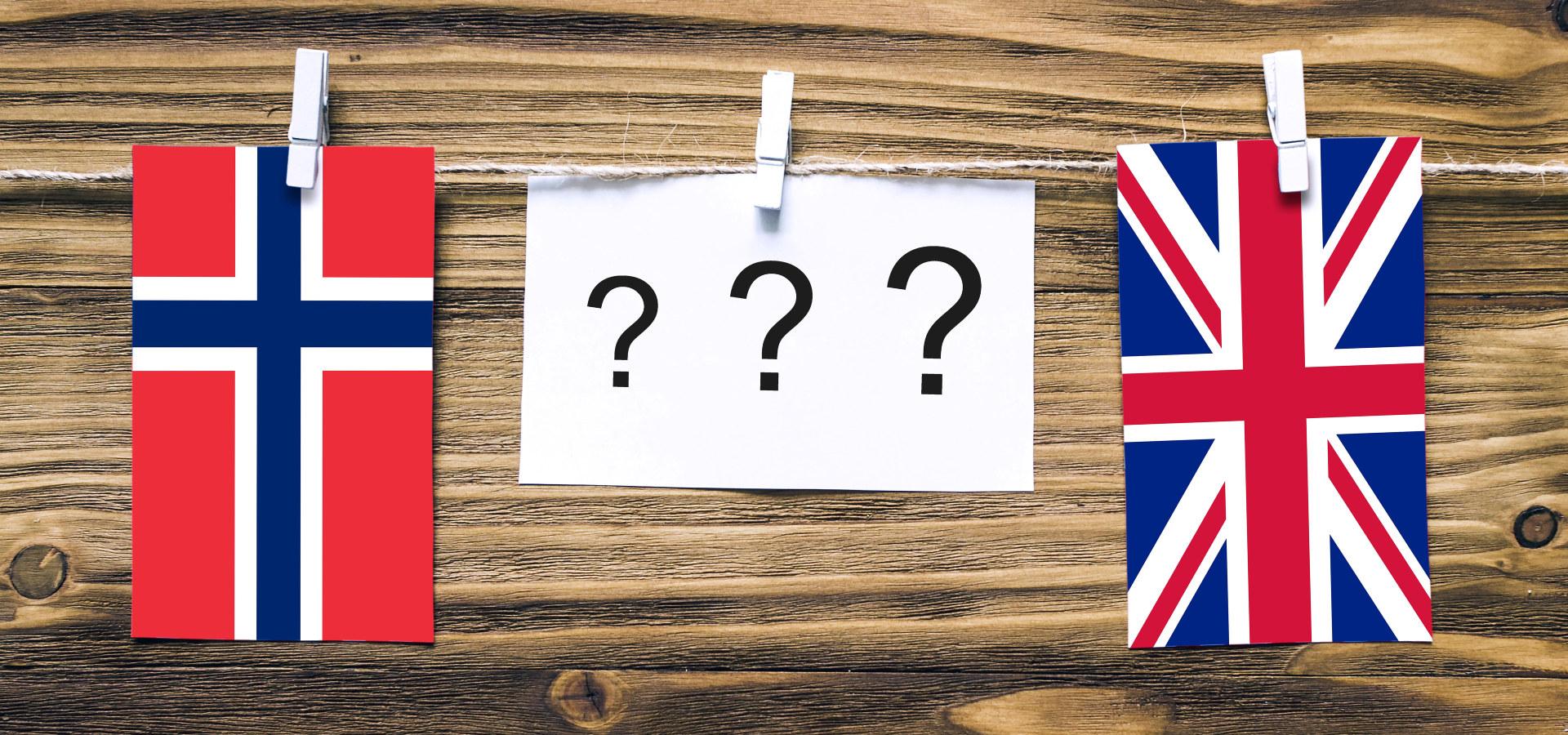 Flagg fra Storbritannia og Norge