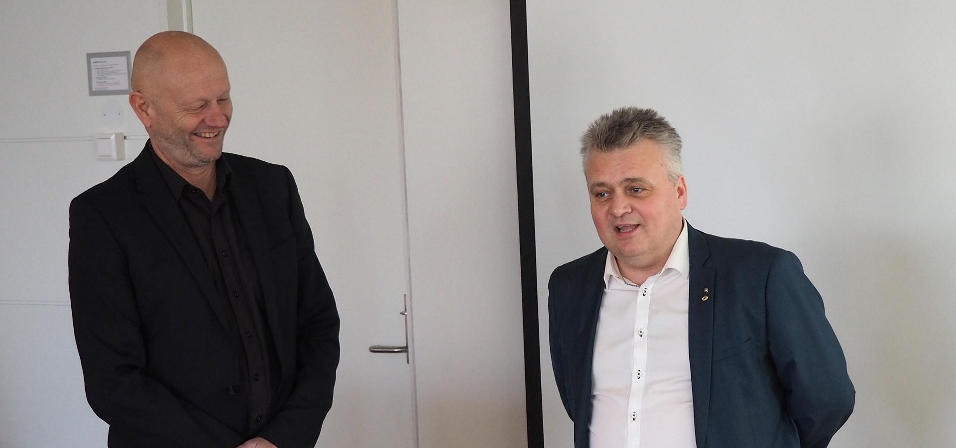 Møte mellom Stein Lier-Hansen, Jørn Eggum og riksmekler Mats Ruland under Norsk Industris representantskap 5. mars 2020. Foto: Norsk Industri