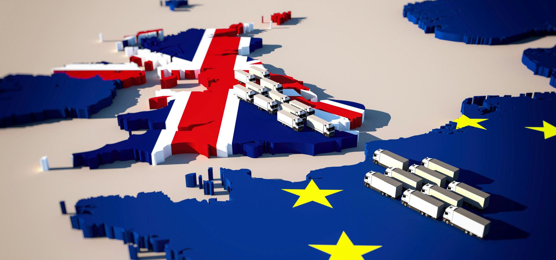 Illustrasjon av britisk-europeisk handel