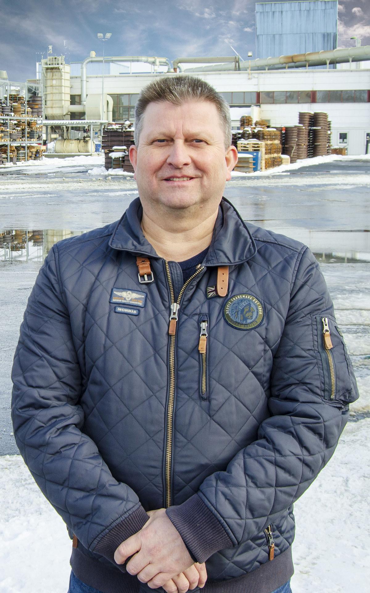 Frode Amundsen, HMSK-sjef i Furnes Jernstøperi, har vært en aktiv pådriver i prosessen med EPD. Foto: Furnes