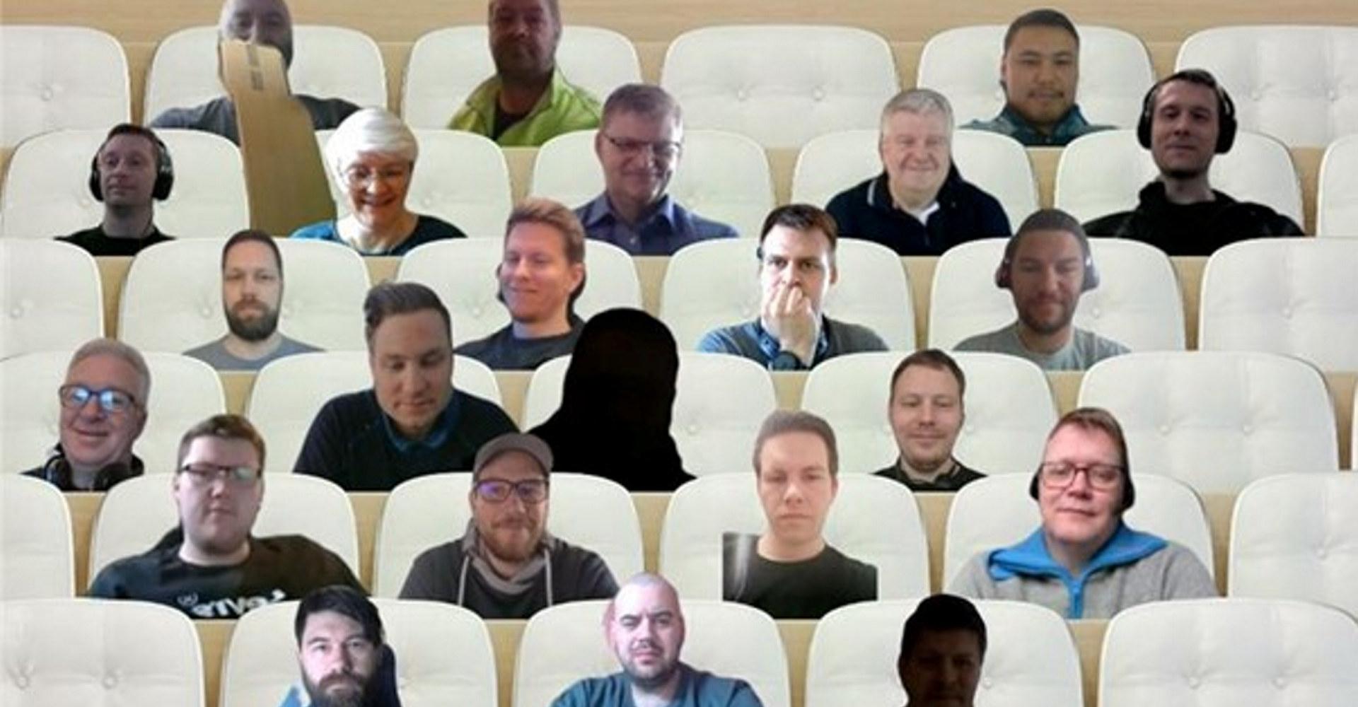 Studenter på kurset «Lean i Industri 4.0» i regi av Fagskolen Innlandet. Skjermdump fra Teams-samlingen
