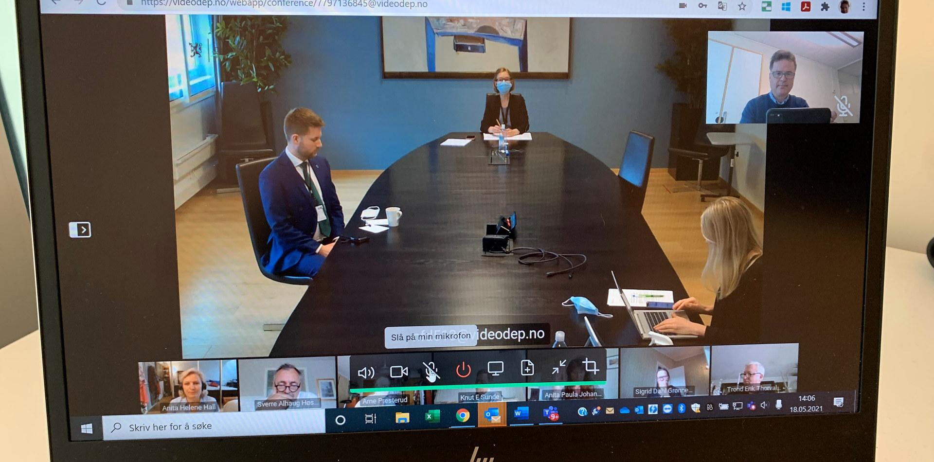 Bilde av digitalt møte