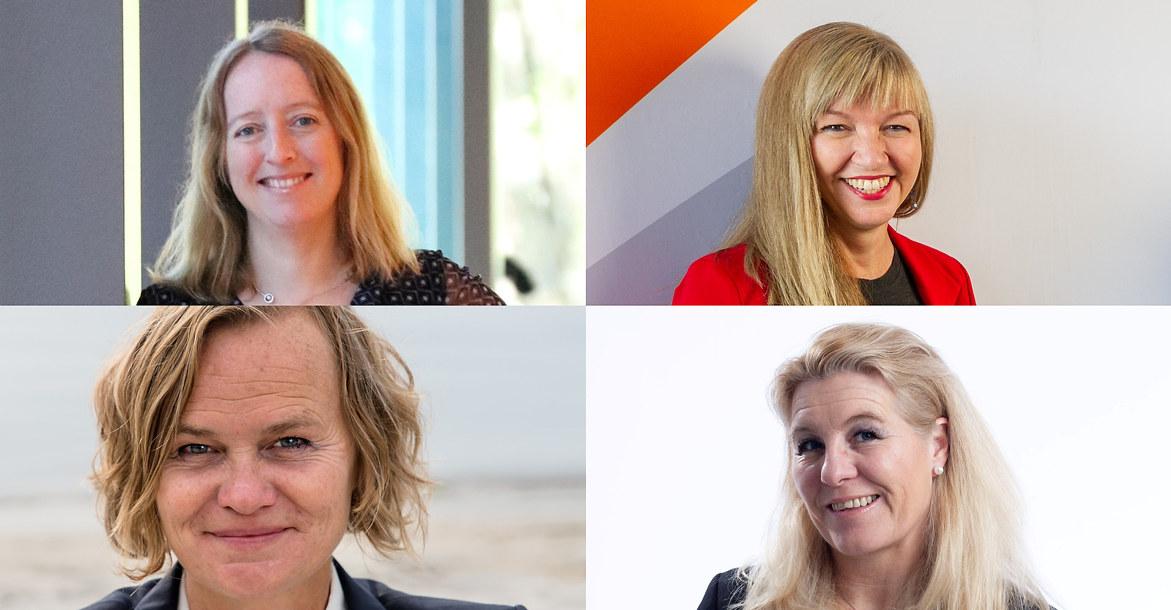Katrine Vinnes (Norsk Industri), Monica Paulsen (ACT Cluster), Helene Fladmark (Eyde-klyngen), Irene Siljan Vestby (Industrial Green Tech).