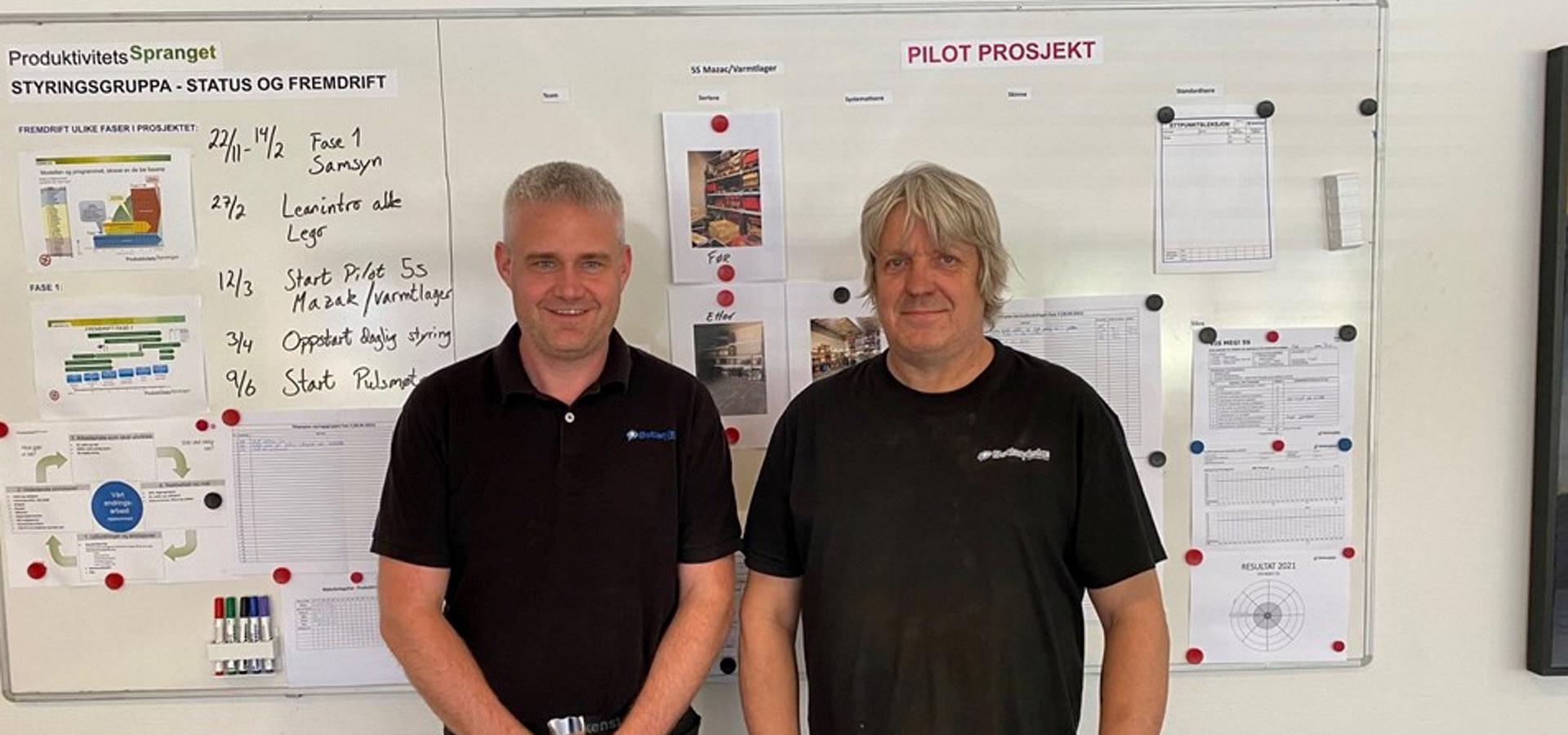 To ansatte ved Østlandske Lettmetall