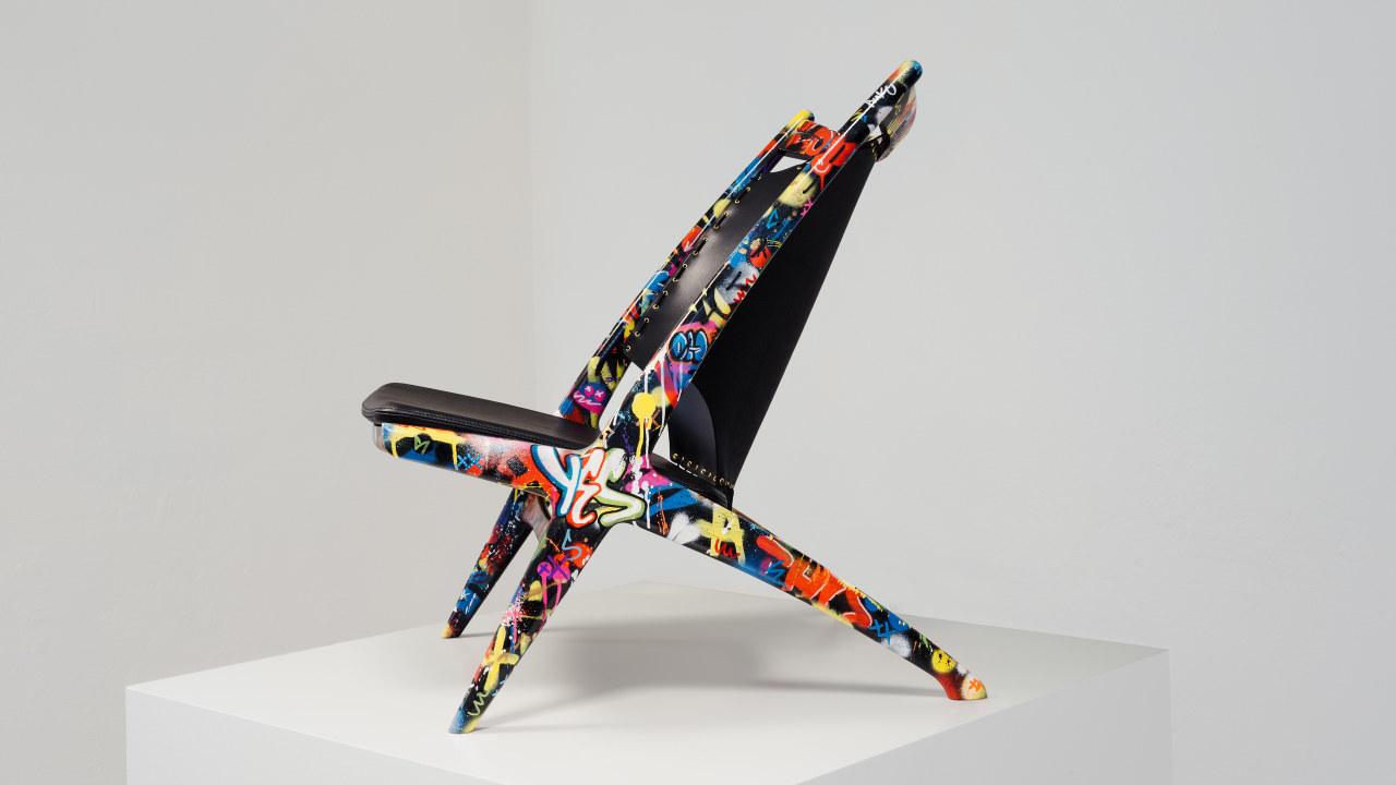 Stol. Samarbeid mellom møbelprodusent Eiklund og kunstner Martin Whatson