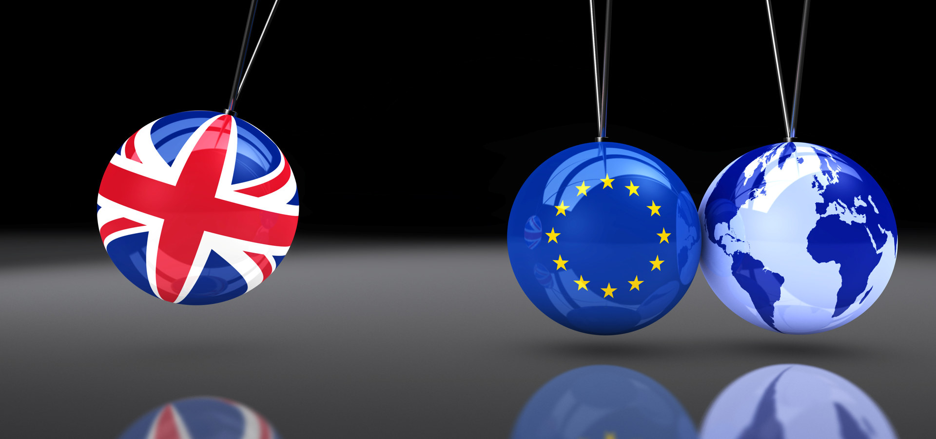 Brexit illustrert ved klinkekuler